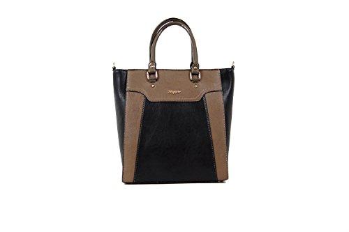 Tasche Shopper Damentasche Handtasche Luxus Taymir 2 Jahre Garantie versch Farbe Schwarz-Braun