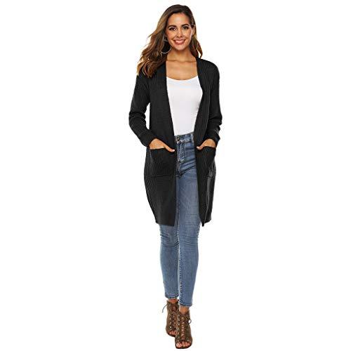 buy online c656d b2425 Rawdah_Donna Donna Cardigan Lunghi Risvolto Irregolare Cappotto Lungo  Manica Lunga Giuntura Caldo Trench Coat Parka Oversize Outwear Autunno  Inverno
