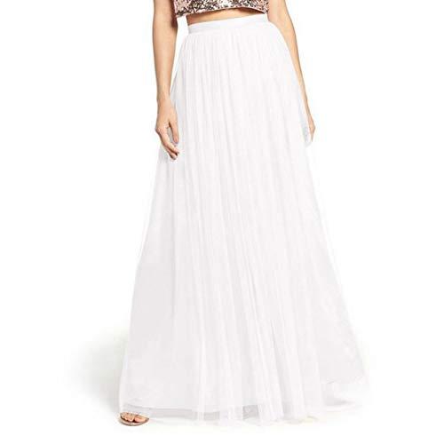 KERVINFENDRIYUN YY4 Elegant Lange Garn Party Hochzeit Tutu Tüll eine Linie Rock (Color : White 1,...