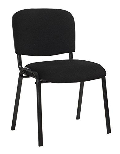 Stapelstuhl Konferenzstuhl Polsterstuhl ARTHUR | Schwarz | Metall | Webstoff | Stapelbar