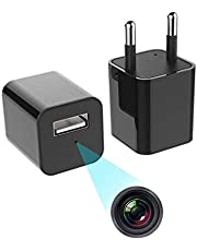 Finicky-World1080p HD Hidden Camera, Plug USB Charger, 128GB SD Card Support(not Included), 2 Mode Recording