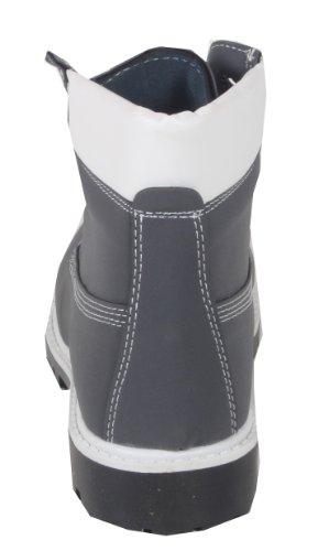 Worker viwoya classique bottes chukka pour femme-aspect cuir nubuck couleur différente du reste du jean semelle profilée Gris - Gris