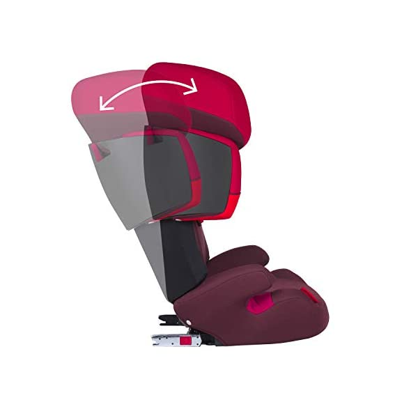 CYBEX Silver Solution X-Fix Child's Car Seat, For Cars with and without ISOFIX, Group 2/3 (15-36 kg), From approx. 3 to approx. 12 years, Rumba Red Cybex Sturdy and high-quality child car seat for long-term use - For children aged approx. 3 to approx. 12 years (15-36 kg), Suitable for cars with and without ISOFIX Maximum safety - 3-way adjustable reclining headrest, Built-in side impact protection (L.S.P. System) 11-way adjustable, comfortable headrest, Adjustable backrest, Comfortable seat cushion 5