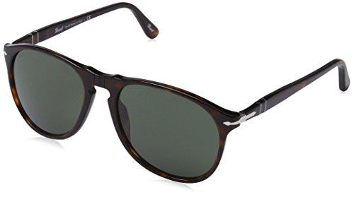 Persol PO9649 Sonnenbrille 52 mm, Braun (Gestell: Havana Glas: Grey 24/31), 52 mm