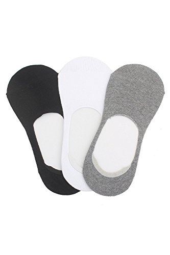 Krystle Cotton No Show Loafer Socks with Anti Slip Silicon- Pack Of 3  available at amazon for Rs.195