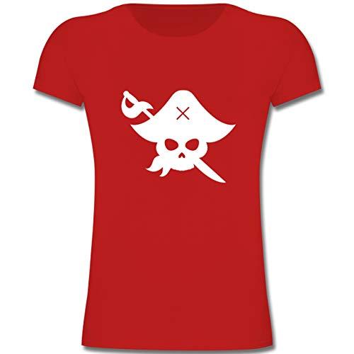 Kinder - Pirat Kostüm Fasching - 116 (5-6 Jahre) - Rot - F131K - Mädchen Kinder T-Shirt ()