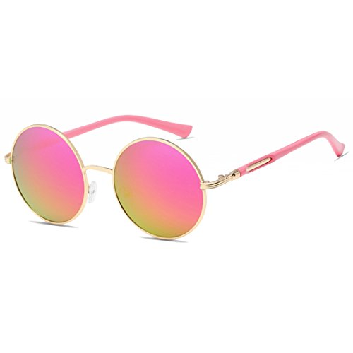 Inlefen Damenbrille Vintage Retro Metall Runde Kreis Rahmen Sonnenbrille