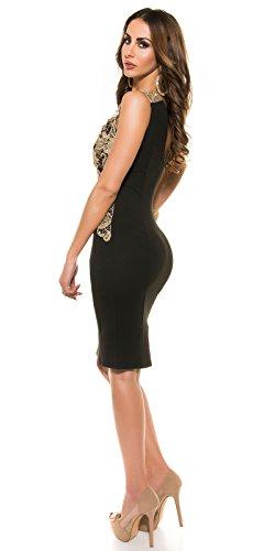 In-Stylefashion - Robe - Femme noir Schwarz L Schwarz
