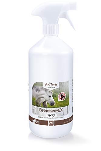 AniForte Bremsen-EX Spray für Pferde 1L - Bremsenspray effektive & langanhaltende Wirkung gegen Bremsen, Sofortiger Schutz vor Mücken, Fliegen, Parasiten, Bremsen-Blocker in praktischer Sprühflasche
