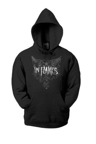 In Flames Crest Wings 701204 cappuccio per bambini Nero  nero