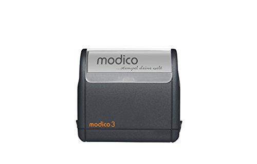 Stempel modico 3, Abruckgröße 49 x 15mm (schwarz)