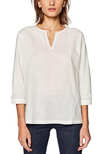Esprit 029ee1f009 blusa, bianco (off white 110), 44 (taglia produttore: 38) donna