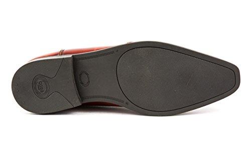 Base London Herren Budapester Business Schuhe Gr. 42 Braun Cognac