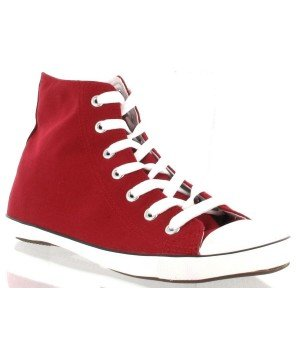 Chaussure Bas Prix - Baskets montantes, en toile rouge - H2625-2D Rouge