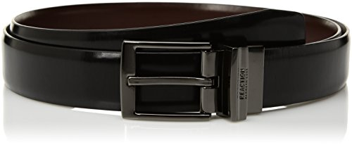 Kenneth Cole REACTION Men's Reversible Dress Belt, Black/Brown, 30
