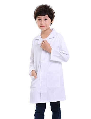 Personalisierte Labormäntel für Wissenschaftler oder Ärzte, 2 Taschen Gr. 34 DE/6X, weiß -