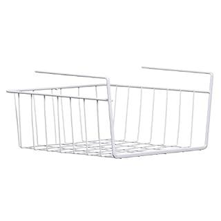 Premier Housewares Under Shelf Storage Basket - White