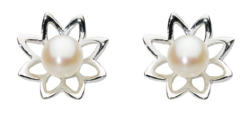 dew-womens-pearl-lily-sterling-silver-and-freshwater-pearl-stud-earrings