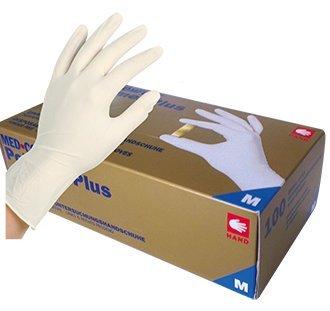 Latex Einmal- / Untersuchungshandschuh, Polymer Plus Größe M (1x100 Stück)