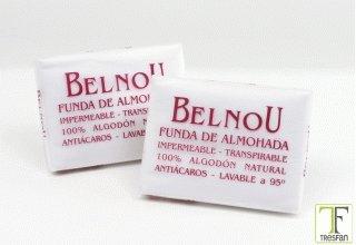Belnou Funda de Almohada Respira Blanco 70