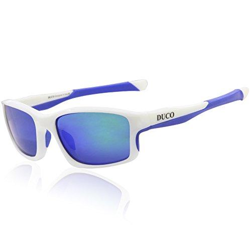Duco Bike Polarisierte Fahrradbrillen Radfahren Sportbrillen Sonnenbrillen Goggles Sunglasses 6177 (White) (Kunden Mit Eine Ursache)