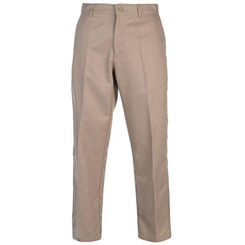 Slazenger Herren Golf Hose Golfhose Trainingshose Zip Khaki 34W 33L (Golf Herren Hosen)