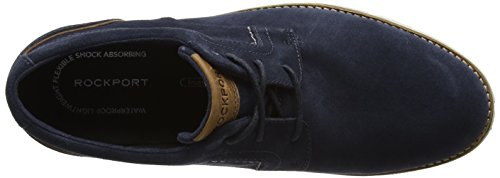 Rockport Statford Plaintoe, Chaussures à Lacets Homme Blue (new Dress Blue Suede)