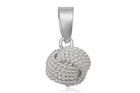 EYS JEWELRY® Damen-Anhänger Knoten Kugeln 9 x 8 mm blank 925 Sterling Silber silber im Etui Damenanhänger
