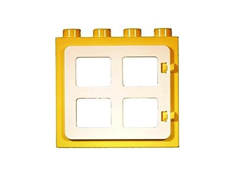 LEGO DUPLO - 1 Fenster in gelb mit weißem Laden