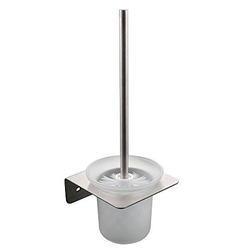 KES WC-Bürste mit Halter Set Wandhalterung SUS304Edelstahl Halter, gebürstet, a21430–2