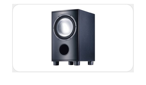Canton As 85 Sc Aktiv Subwoofer Mocca Weiss Audio Hifi