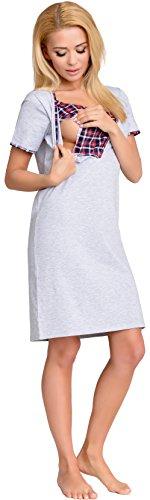 Be Mammy Allattamento Camicia da Notte per Donna Lea (Mélange, M)