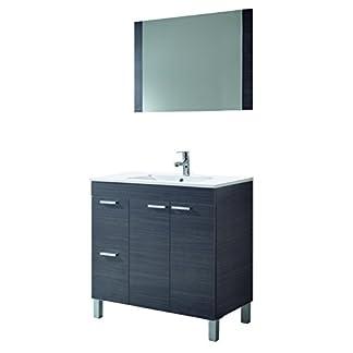31BtDrgI5hL. SS324  - ARKITMOBEL Aktiva Mueble de baño, Metal, Gris Ceniza, 45x80x80 cm