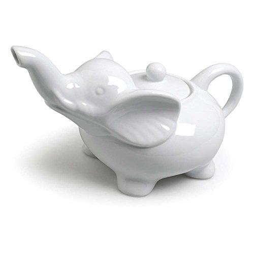 Abbott Collection Porzellan Elefant Teekanne, weiß Whiteware Serveware