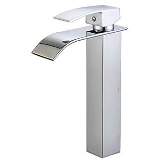 31BtFcoBQSL. SS324  - DP Grifería - Grifo monomando de lavabo alto efecto cascada ,modelo Eneldo