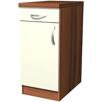 Küchen unterschrank 40 cm creme matt sienna