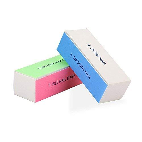 Nagel-Puffer-Nagel-Shiner-Schwamm 4 Möglichkeiten Nagel-Kunst-Sorgfalt-Akten-Schleifen-Blöcke Maniküre-Produkt-Nagel-Poliermittel für Haus-und Salon-Gebrauch Satz von 5