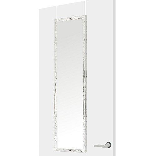 Espejo de Puerta nórdico Blanco de Madera MDF para Dormitorio 35 x 125 cm Bretaña - LOLAhome