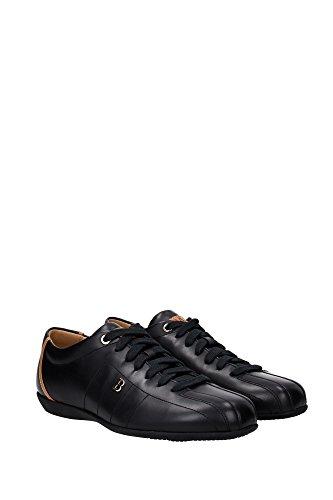 HAIDO2306198853017 Bally Sneakers Homme Cuir Noir Noir