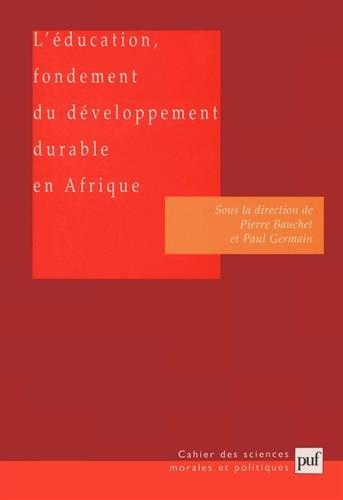 L'Education, fondement du développement durable en Afrique