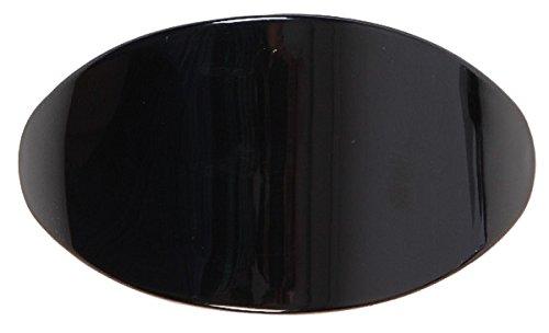 LUQX Haarspange Oval groß (in diversen Varianten) (schwarz)