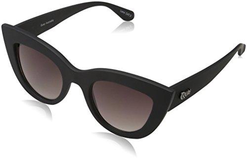 Quay Eyewear Damen Sonnenbrille Kitti, Schwarz (Blk/Smk), One size (Herstellergröße: Einheitsgröße)