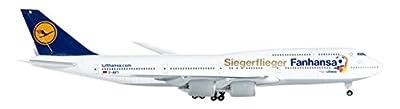 Herpa 527187 - Miniaturmodell - Lufthansa Boeing 747-8 Intercontinental, Siegerflieger von Herpa