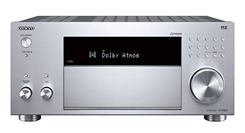 Onkyo TX-RZ830(S) Récepteur AV 9.2 canaux (THX Cinema Sound, Dolby Atmos, DTS:X, Transmisson 4K, Wifi, Bluetooth, Streaming Spotify et autres, Radio Internet, Multiroom, 180 W/canal), argent