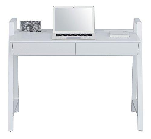 SixBros. Computerschreibtisch Schreibtisch Hochglanz Weiß – CT-3583N/4469