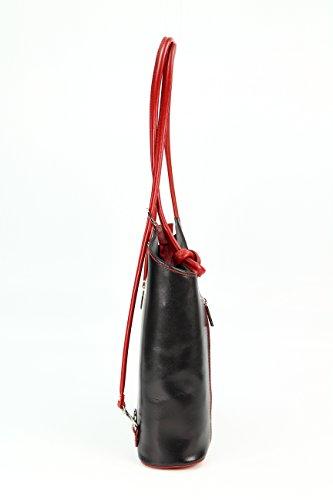 Belli, Borsa a zainetto donna Multicolore multicolore 28x28x8 cm (B x H x T) Nero/Rosso