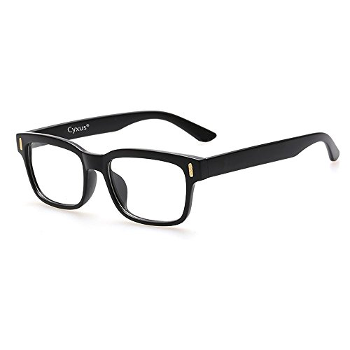 159003c285 Cyxus Blue Light Blocking Computer Glasses for Anti Eye Strain UV  Transparent Lens Black Frame Reading