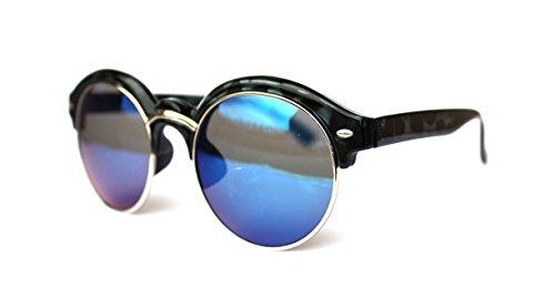 50er 60er Jahre Retro Vintage Sonnenbrille Sommerbrille Clubmaster Style Rockabilly Trend 2017 2018 Mode Fashion Fashionbrille Beach Club Designer Brille blau