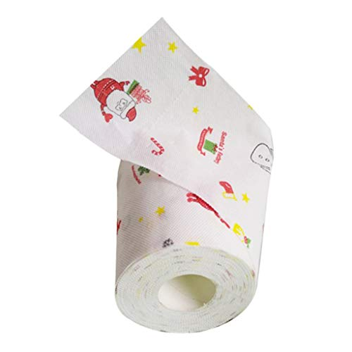 Baoblaze Kreative Weihnachts Toilettenpapier Geschenke für Freunde und Familien - Weihnachtsmann