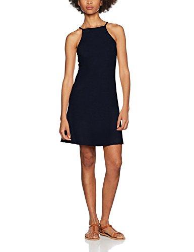 VERO MODA Damen Kleid Vmaddison SL Short Dress Dnm Jrs A, Blau (Navy Blazer Navy Blazer), 36 (Herstellergröße: S)